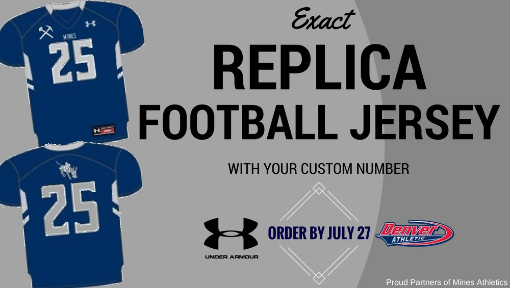 68ffa793d Offer Ends Thursday  Purchase Your Mines Football Replica Jersey Today!